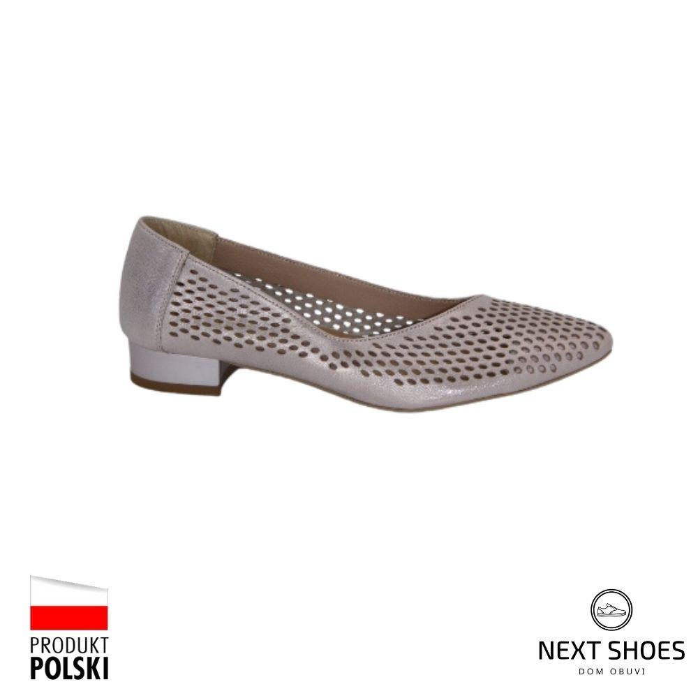 Shoes for women beige NEXT SHOES (Poland) summer art 1160-2 model 4689