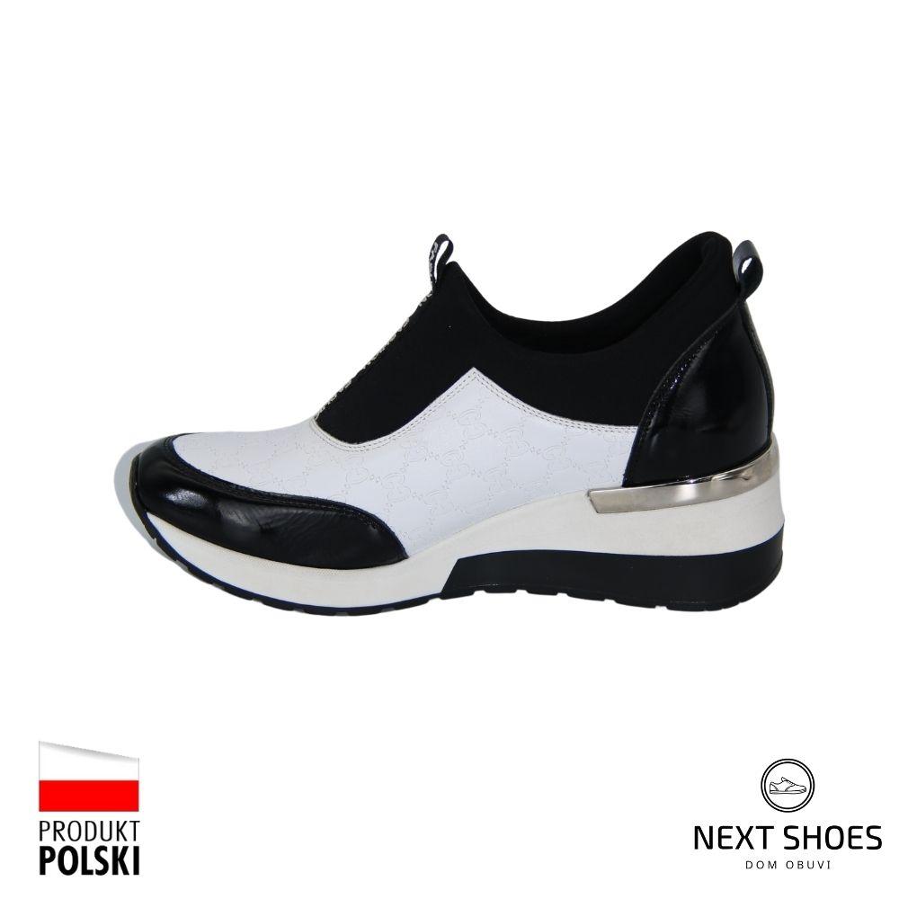 Кроссовки женские белые NEXT SHOES (Польша) демисезонные арт  модель 4690