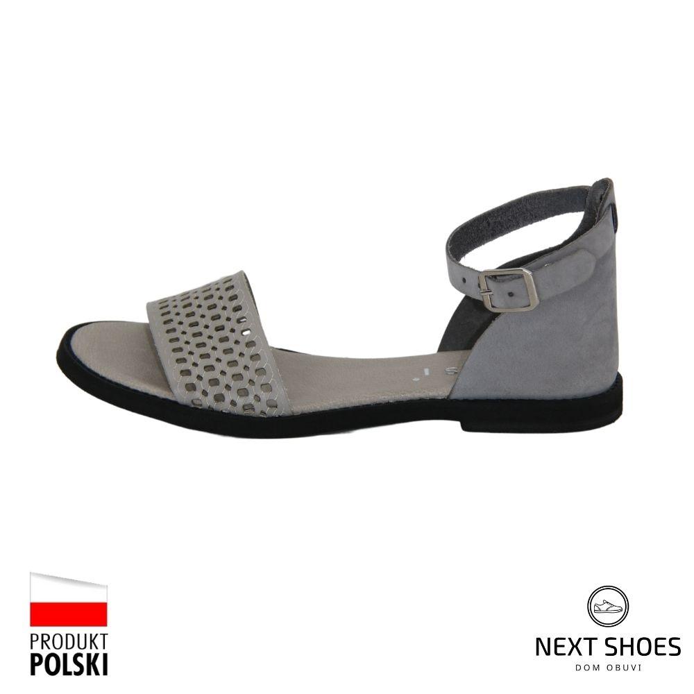Low platform sandals female gray NEXT SHOES (Poland) summer art 18381-szary-11 model 4697