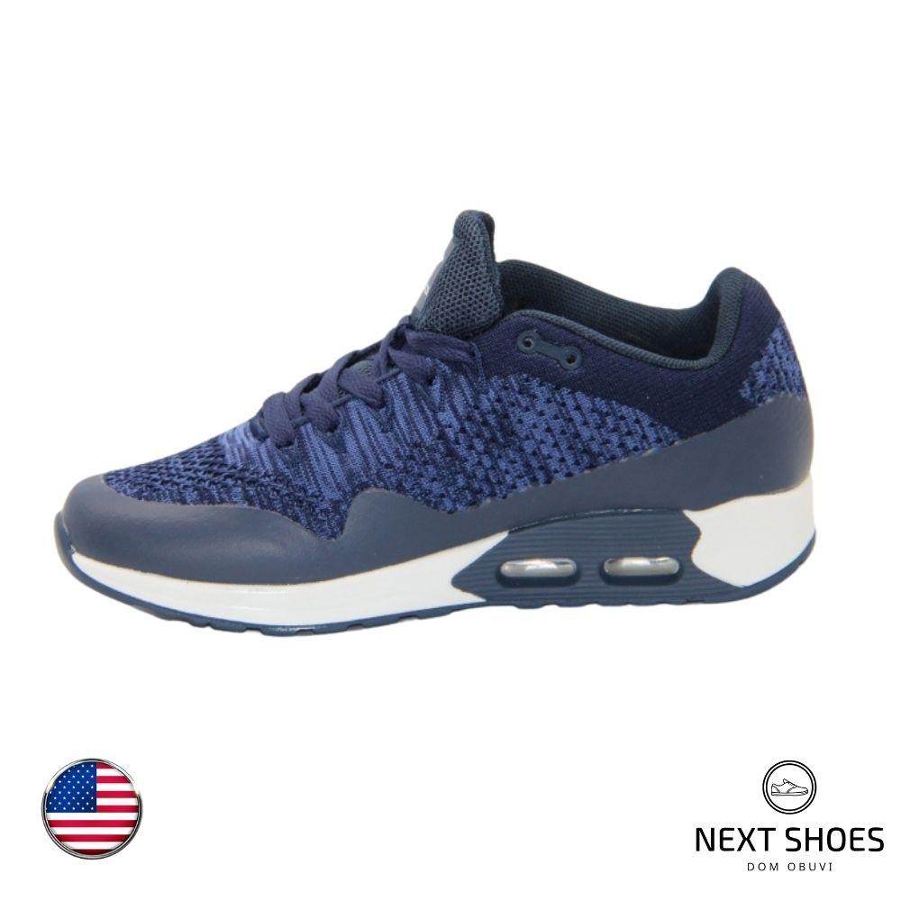 Sneakers unisex blue NEXT SHOES (USA) summer art 18218-000-4600 model 4702