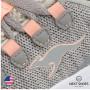 Sneakers female gray NEXT SHOES (USA) summer art Kf Lock 18318 000 2075 model 4705