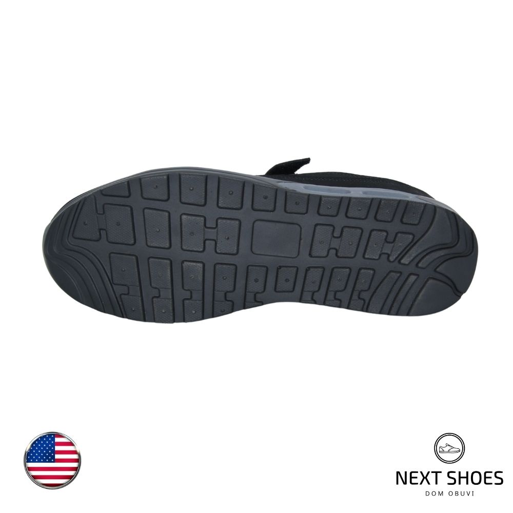Кроссовки унисекс черные NEXT SHOES (США) летние арт 18465-000-5003 модель 4709