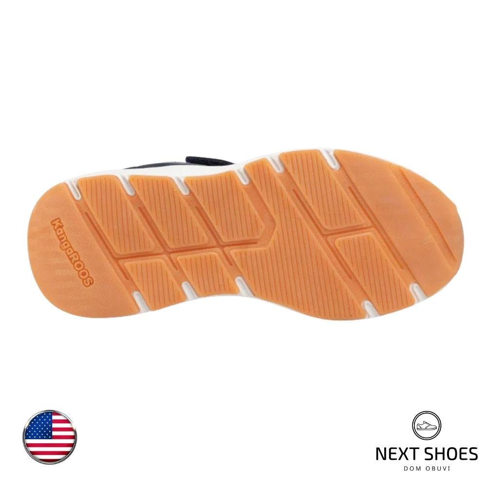 Sneakers female blue NEXT SHOES (USA) summer art Kb-Hook Ev 18508 000 4054 Dk Navy / Lime model 4710