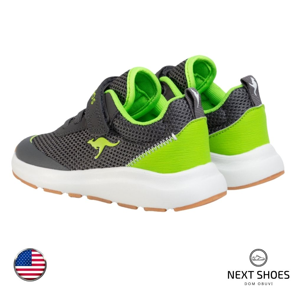 Sneakers for women gray with light green inserts NEXT SHOES (USA) summer art Kb-Sure Ev 18507 000 2107 model 4718