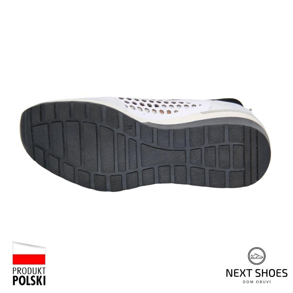 Sneakers female white NEXT SHOES (Poland) summer art model 4726
