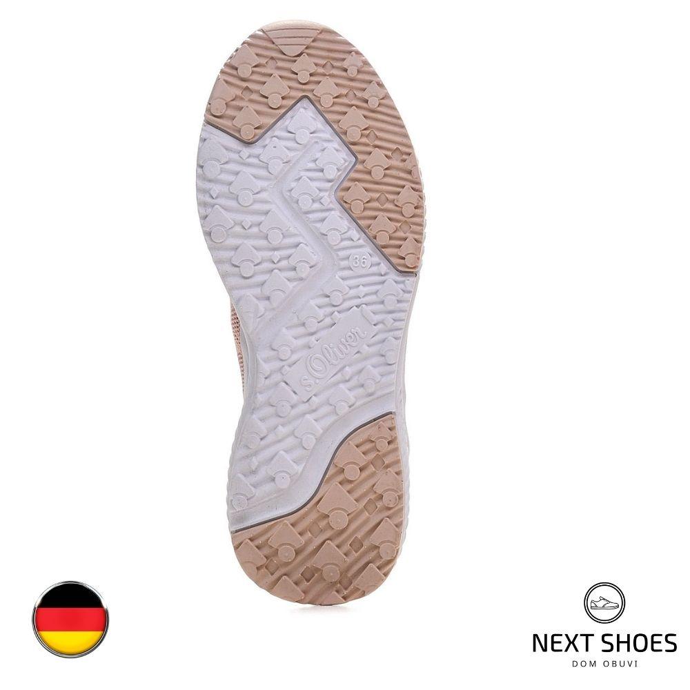 Sneakers for women beige NEXT SHOES (Germany) summer art 5-5-23600-34 546 LT ROSE model 4742