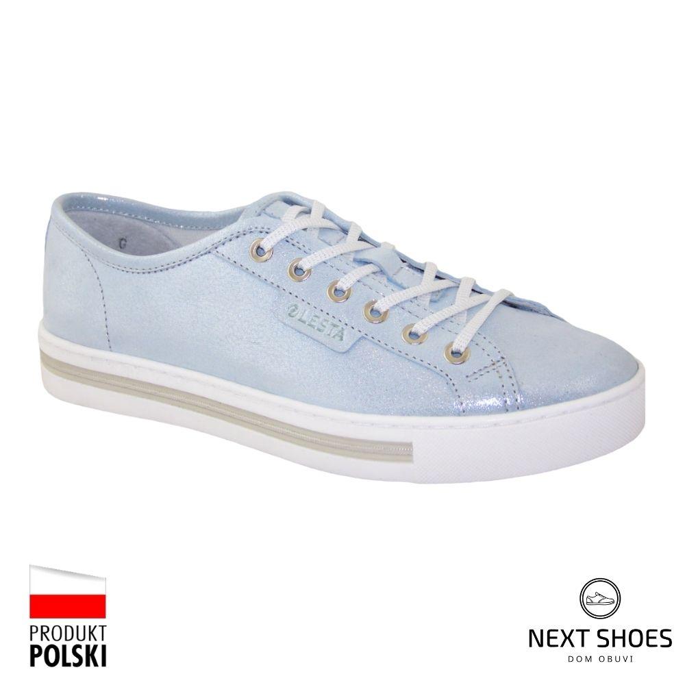 Sneakers women's blue NEXT SHOES (Poland) summer art 261-4367-137 model 4750