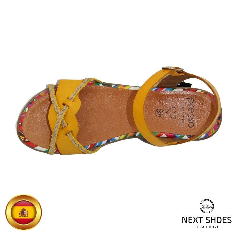 Sandals on a low platform women's multicolored NEXT SHOES (Spain) summer art 2-3424-amarillo model 4753
