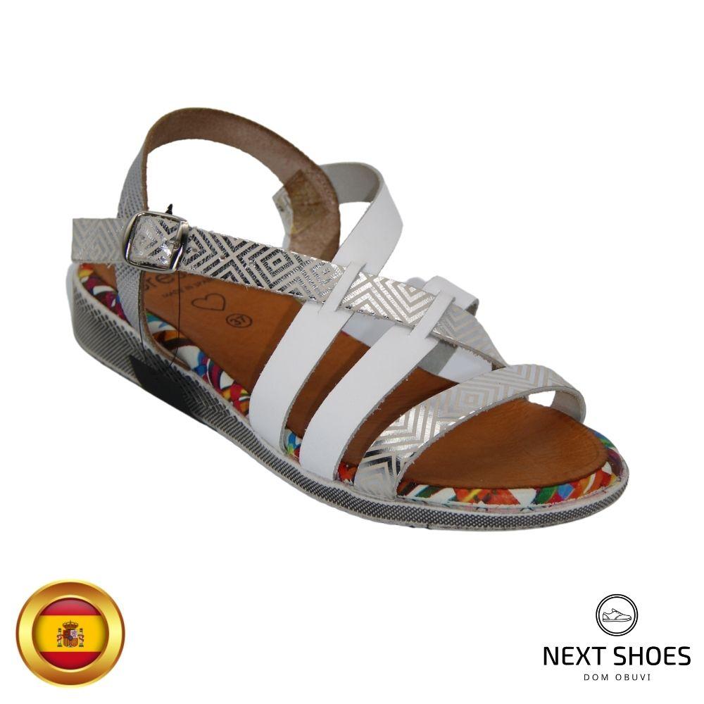 Sandals on a low platform female white NEXT SHOES (Spain) summer art 2-2592-p model 4759