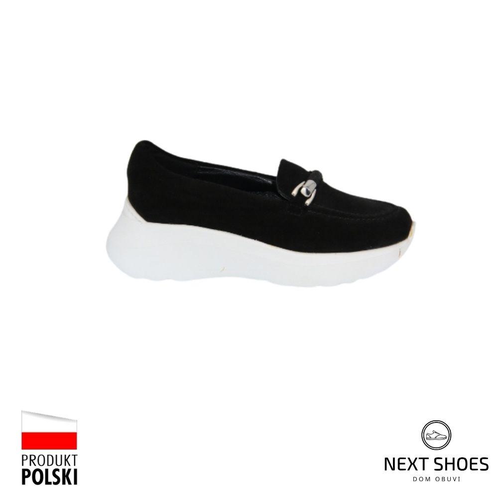 Туфли женские черные NEXT SHOES (Польша) демисезонные арт 3374-003 модель 4764