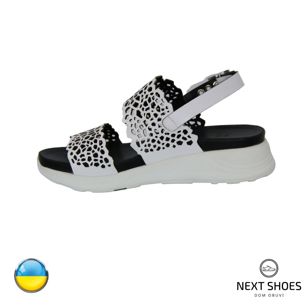 Sandals on a low platform female white NEXT SHOES (Ukraine) summer art 1169-55-wht model 4784