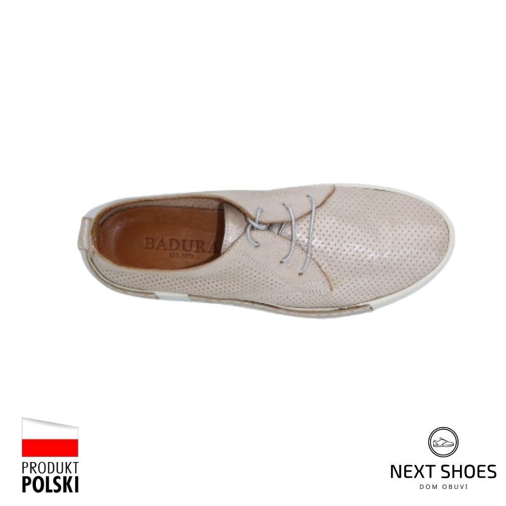 Sneakers for women beige NEXT SHOES (Poland) summer art 6606-69-bez model 4793