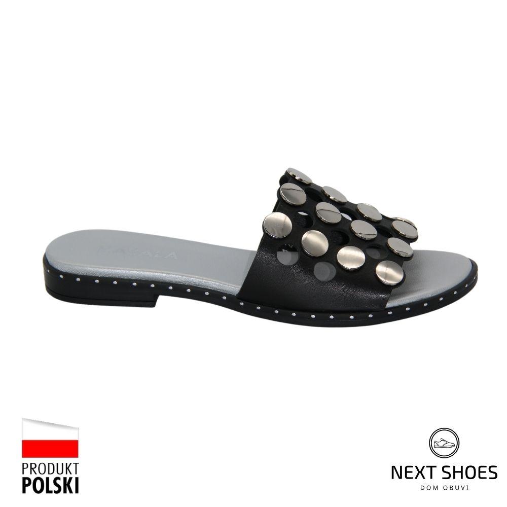 Slippers female black NEXT SHOES (Poland) summer art 321-s2-303-000101 model 4799