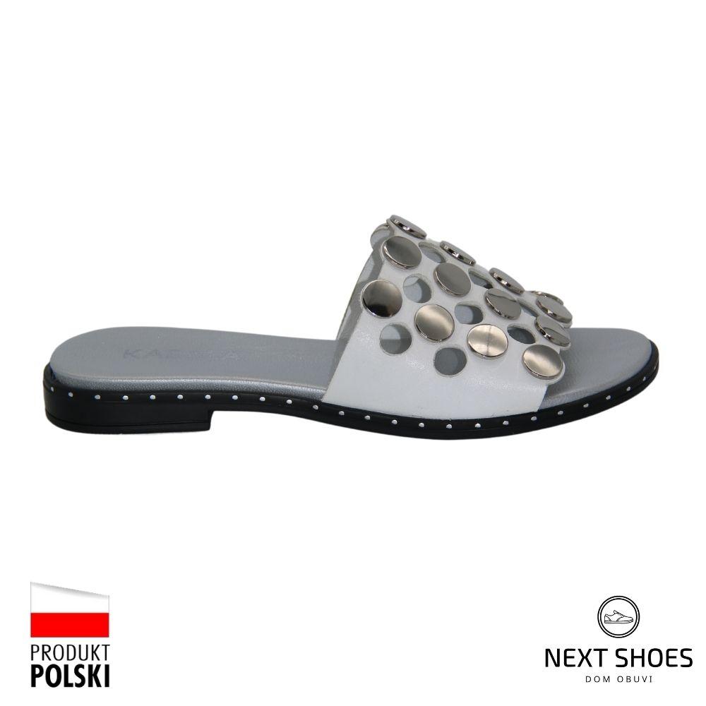 Slippers female white NEXT SHOES (Poland) summer art 321-s2-711-000100 model 4800