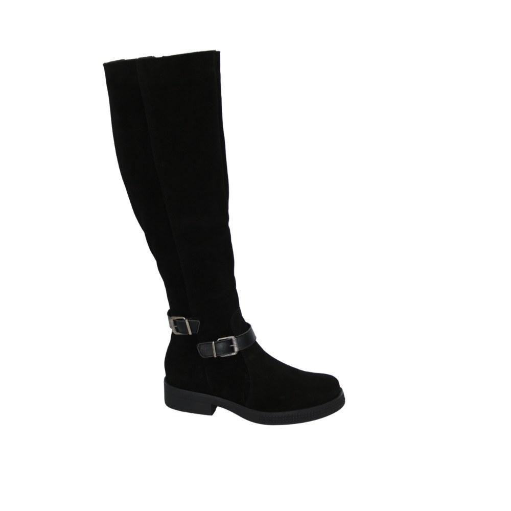 Женские черные сапоги демисезонные NEXT SHOES (Польша) Натуральная кожа, арт 9617 модель 4835
