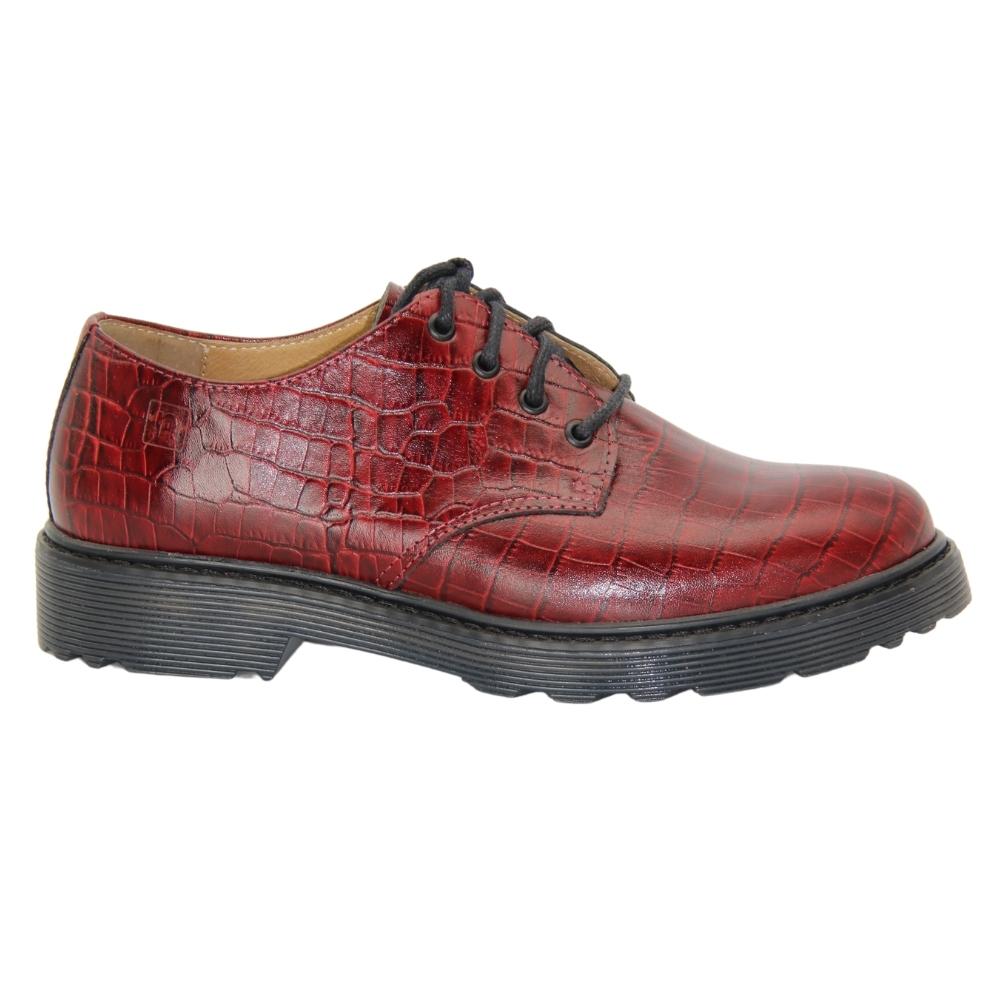Туфли на полиуретановой подошве женские красные NEXT SHOES (Польша) демисезонные арт 20753 модель 4845