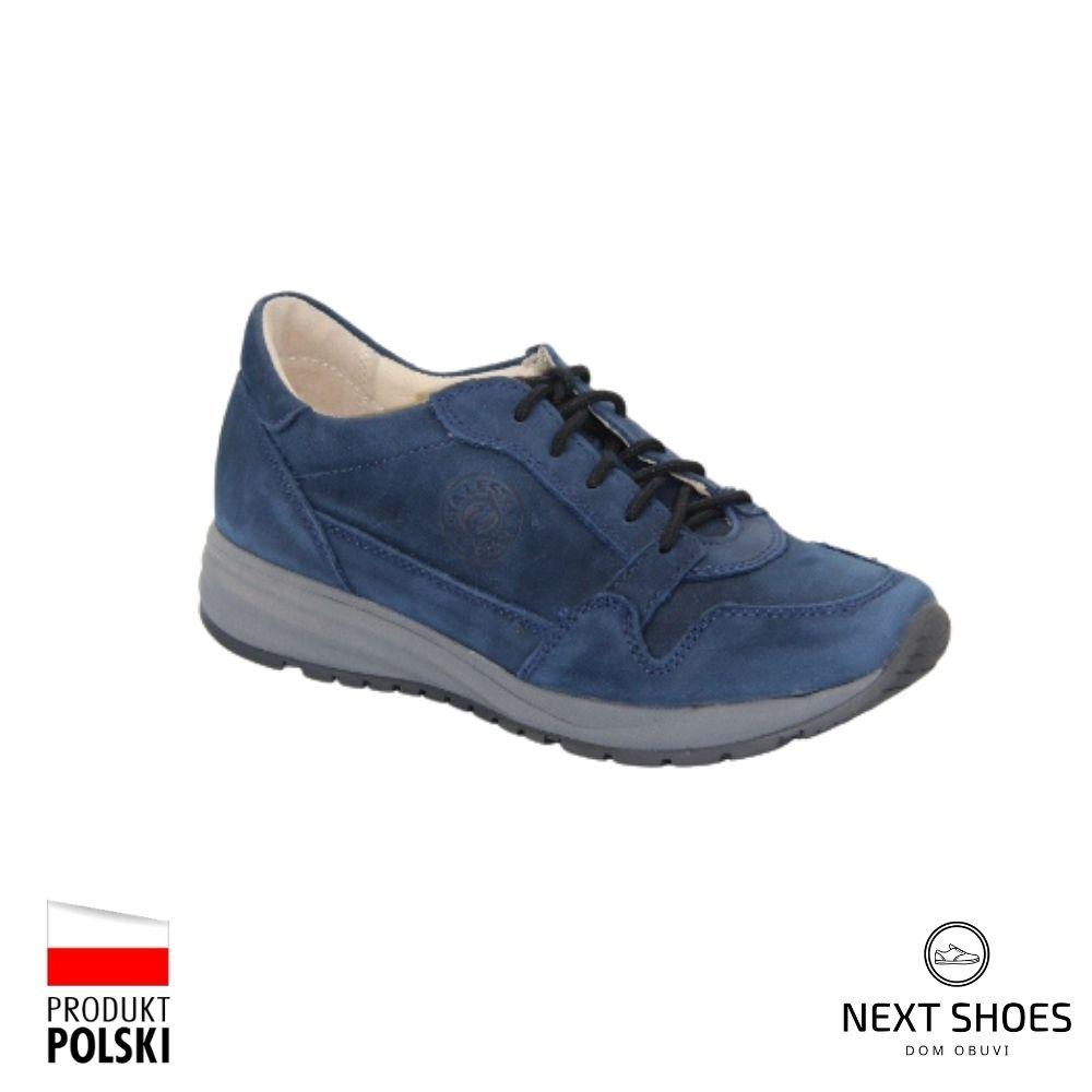 Sneakers women's blue NEXT SHOES (Poland) demi-season art 251-4346-2-3240 model 4854