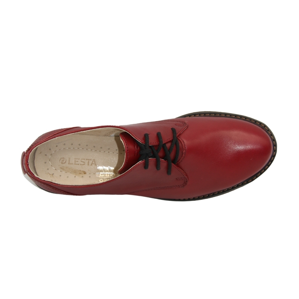 Shoes with polyurethane soles female red NEXT SHOES (Poland) demi-season art 271-4379-1-5148 model 4856