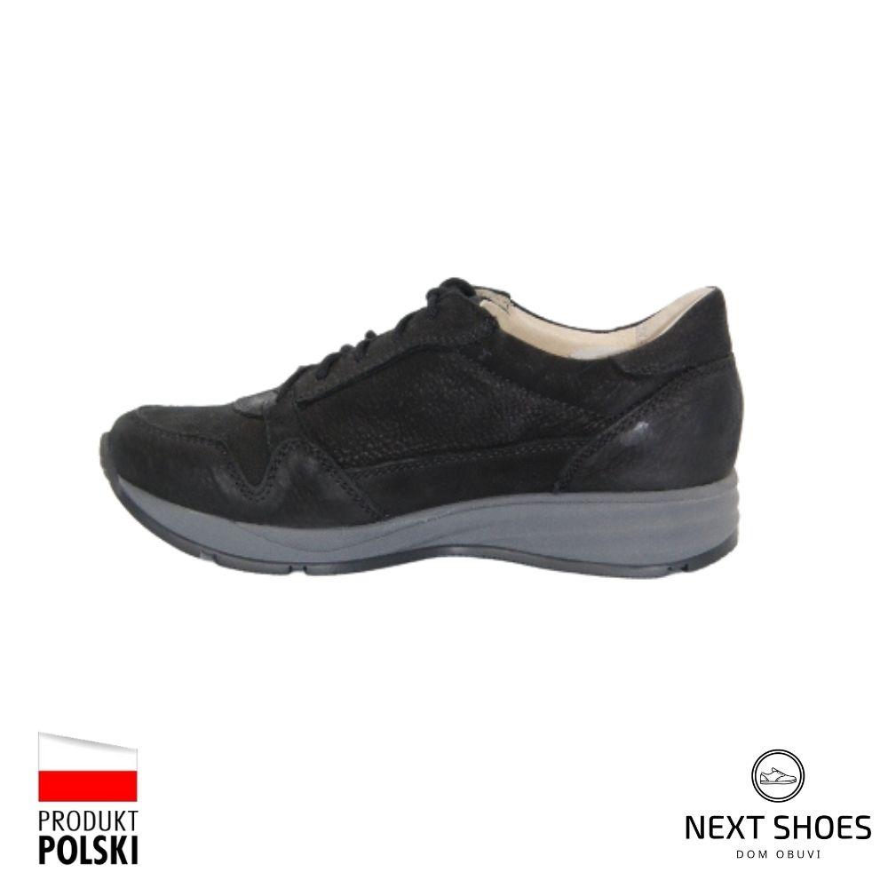 Sneakers female black NEXT SHOES (Poland) demi-season art 251-4346-2-1039 model 4857