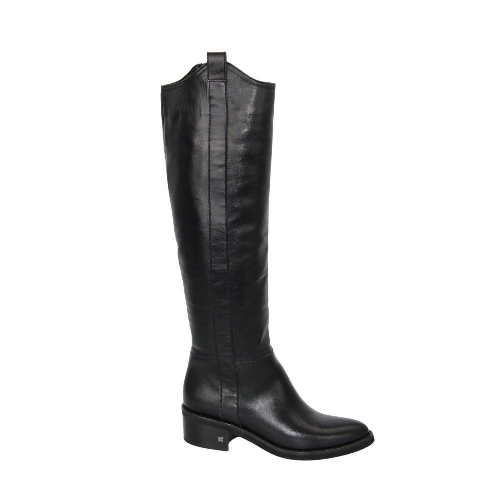 Женские черные сапоги демисезонные NEXT SHOES (Польша) Натуральная кожа, арт 1804162-980 модель 4861