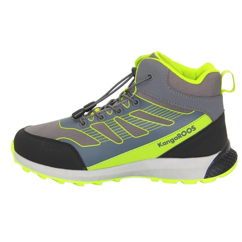 Женские серые ботинки спорт на шнуровке демисезонные NEXT SHOES (США) Текстиль, арт 135440002014 модель 4869