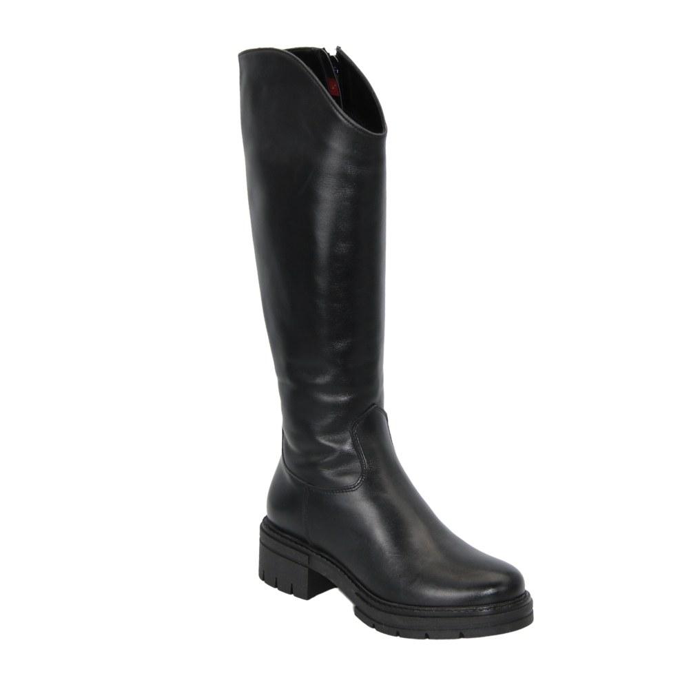 Женские черные сапоги демисезонные NEXT SHOES (Польша) Натуральная кожа, арт 1782042-10А модель 4891