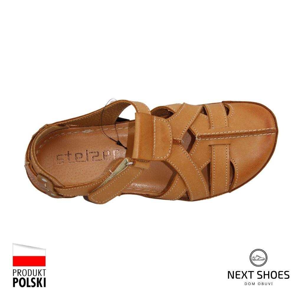 Sandals on a low platform female beige NEXT SHOES (Poland) summer art 74-pn86-0-91011 model 4918