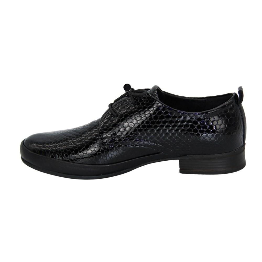 Women's black shoes-oxfords demi-season NEXT SHOES (Turkey) Natural nubuck, art 9014-01-51 model 5071