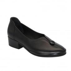 Women's black shoes loafers demi-season (Turkey) model 5098
