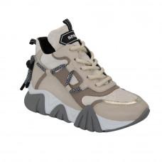 Women's beige sneakers demi-season (Turkey) model 5102