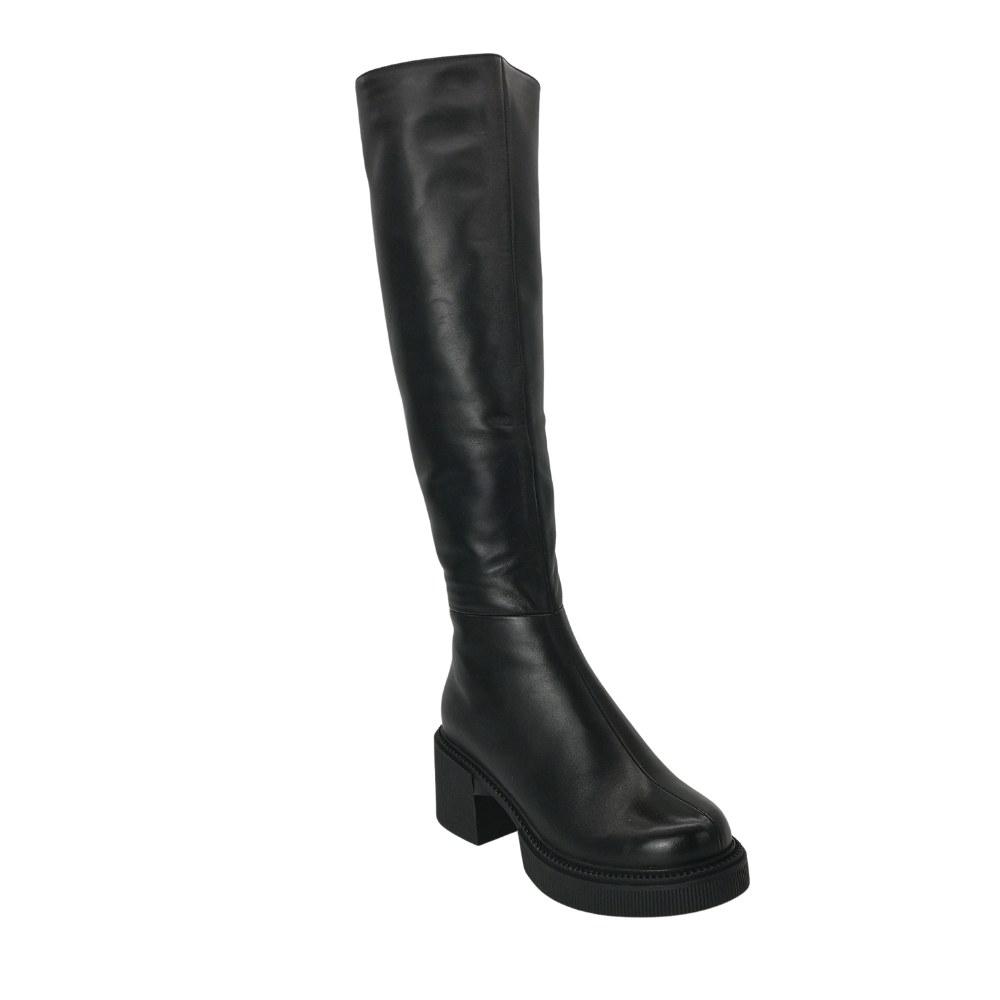 Женские черные сапоги зимние NEXT SHOES Натуральная кожа, модель 5126