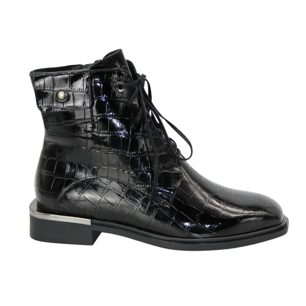 Women's black boots at low speed demi-season NEXT SHOES (Poland) Genuine leather, model 5137