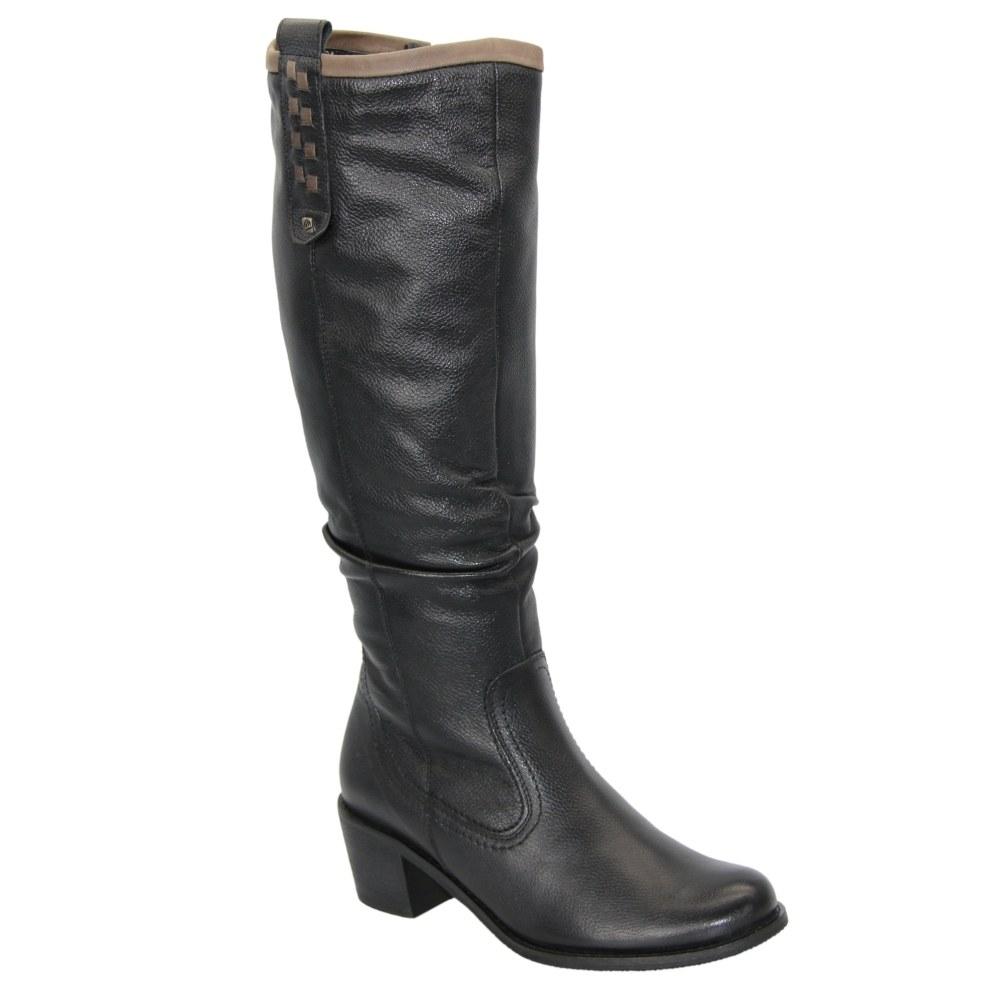 Женские черные сапоги зимние NEXT SHOES (Польша) Натуральная кожа, арт  модель C-417