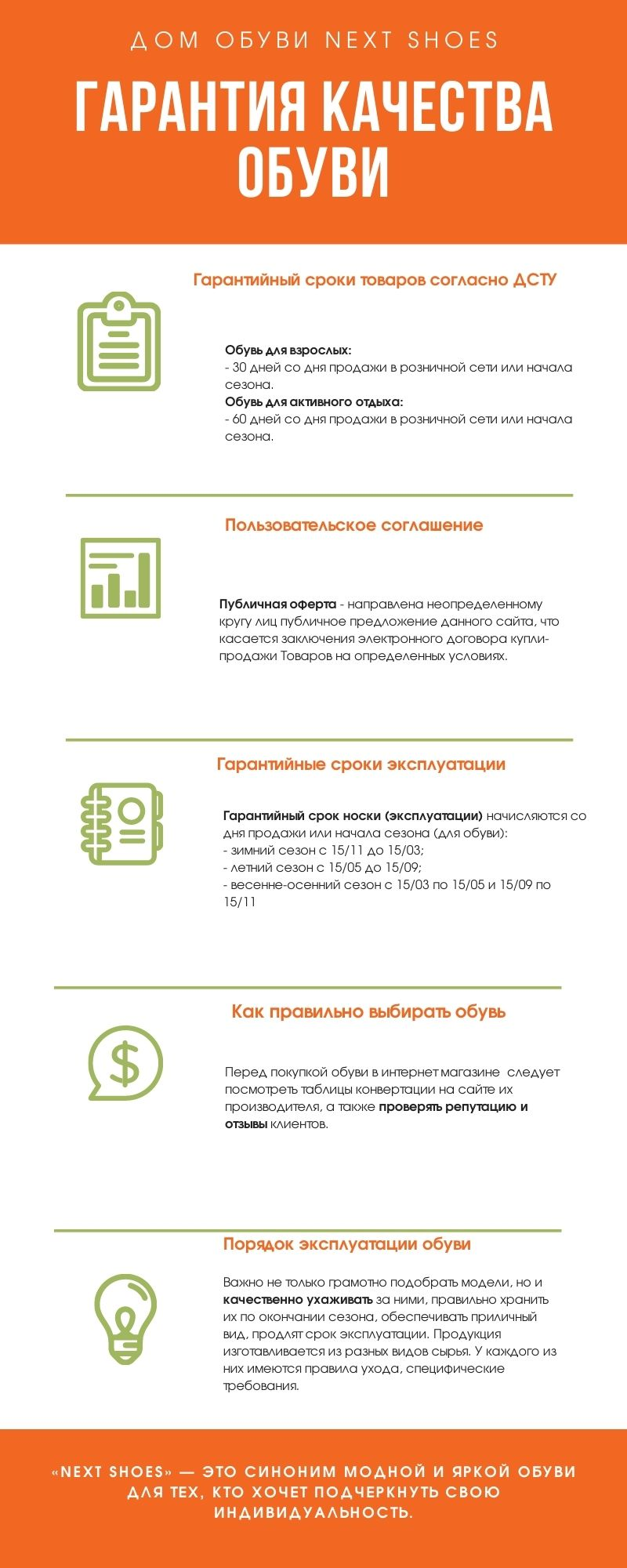 Гарантии на обувь в соответствии с Законом Украины «О защите прав потребителя»